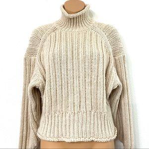 H&M Chunky Knit Turtleneck Wool Blend Sweater